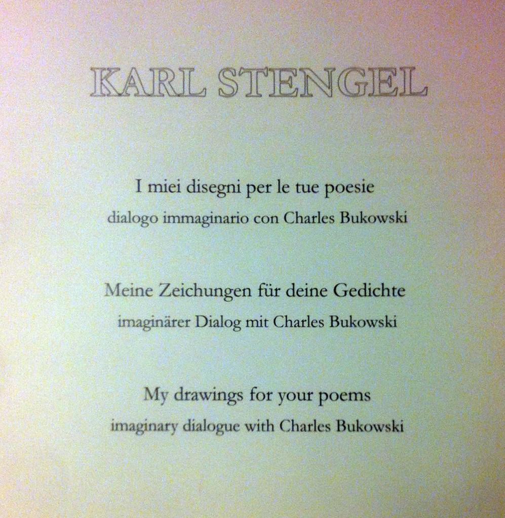karl Stengel - Bukowski